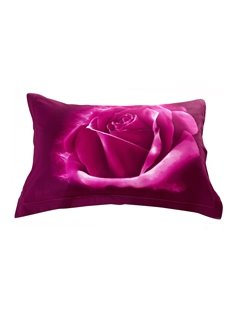 Quality Delicate Purple Roses Print 3D Two-piece Pillowcases