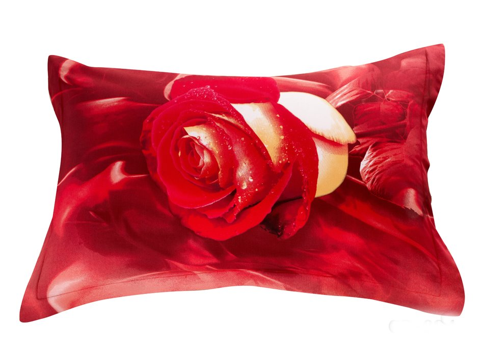 Amazing Roses Print 3D Two-piece Full Cotton Pillowcases