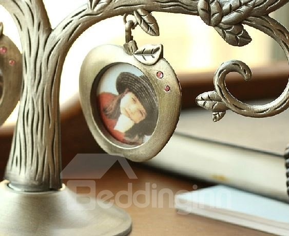 Elegant Creative Seven Apples and Tree Design Frame Ornament
