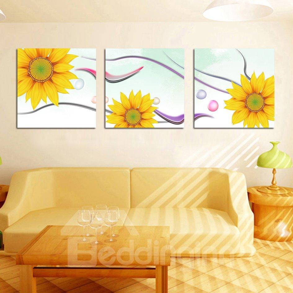 Amazing Yellow Sunflower Film Art Wall Prints