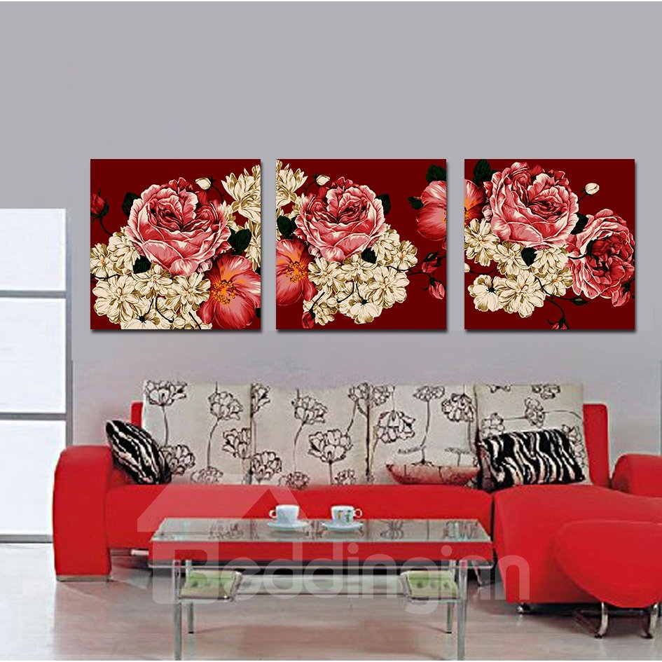 Red Red Flowers Film Art Wall Prints