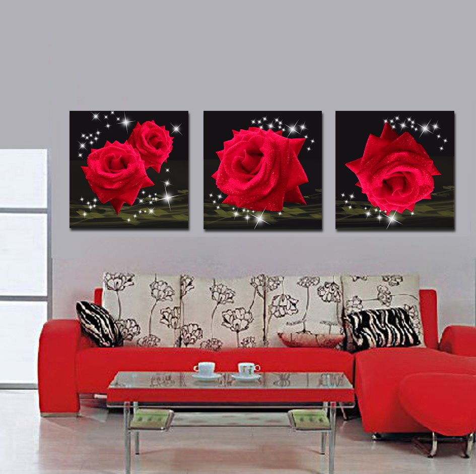 Splendid Shiny Red Roses Film Art Wall Prints