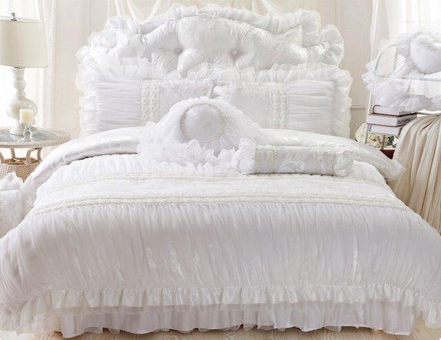 New Arrival Romantic Lace Style 4-Piece Cotton Duvet Cover Sets