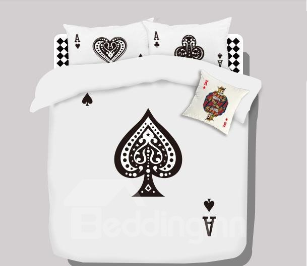 Top Quality Stunning Cartoon Spade A Cotton 4-piece bedding sets