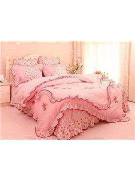 Attractive Cinderella Princess Pink Cotton 4-piece bedding sets