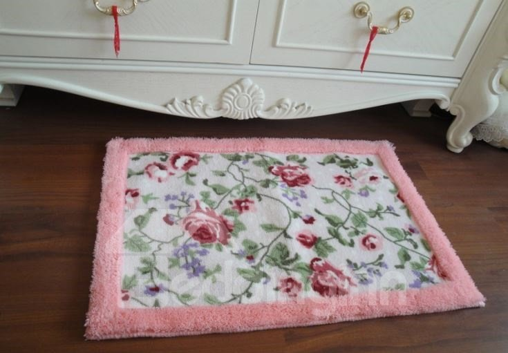 Amazing Beautiful Floral Printing Non-slip Doormat