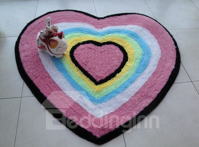 Amazing Colorful Heart-shaped Design Non-slip Doormat