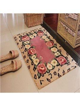 Hot Selling Elegant Pretty Floral Patterns Non-slip Doormat