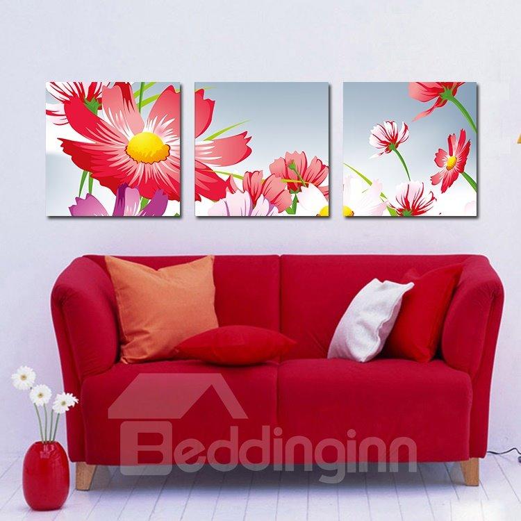 Vivid Pretty Daisy Film Art Wall Prints