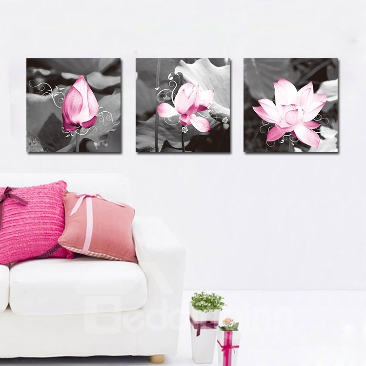Adorable Lotus and Leaves Film Art Wall Prints
