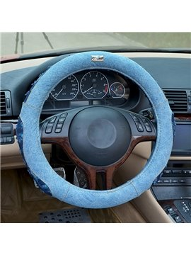Fashionable Skin Care Jeans Cotton Steering Wheels Cover