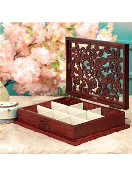 Top Quality Classical Solid Wood Rose Jewelry Box