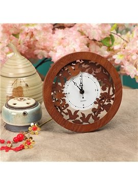 New Style Exquisite Solid Wood Stereo Clock