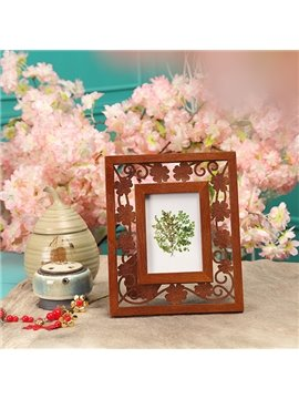 Best Selling Antique Forget-Me-Not Caved Flowers Photo Frame