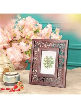 New Style Fancy Solid Wood Forget-Me-Not Caved Flowers Photo Frame