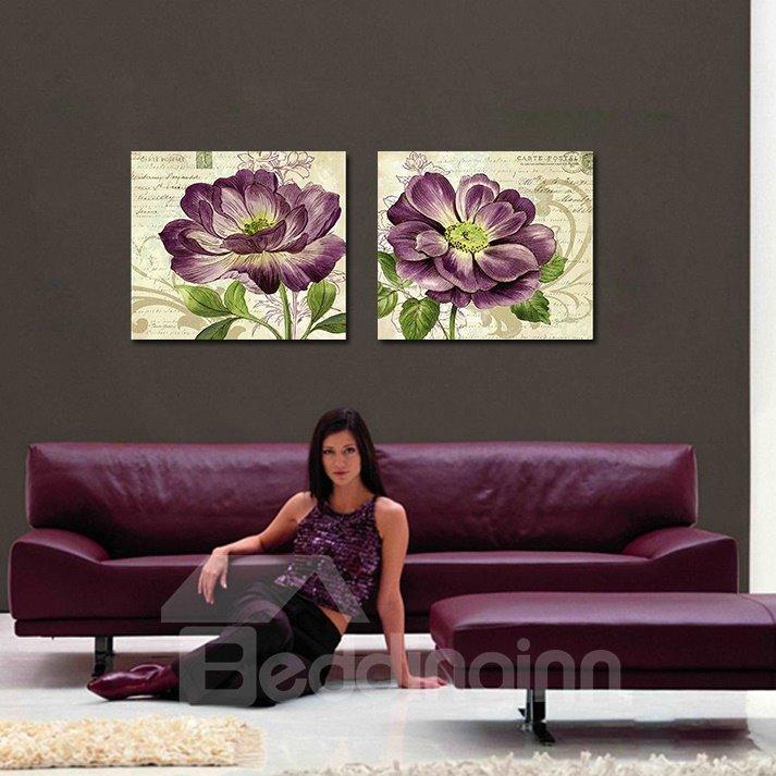 Romantic Purple Floral Print Film Art Wall Prints