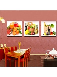 Abundant Fruit and Beverage Film Art Wall Prints