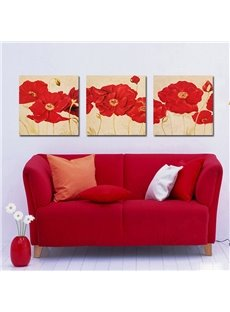 Fancy Elegant Red Flowers Film Art Wall Prints
