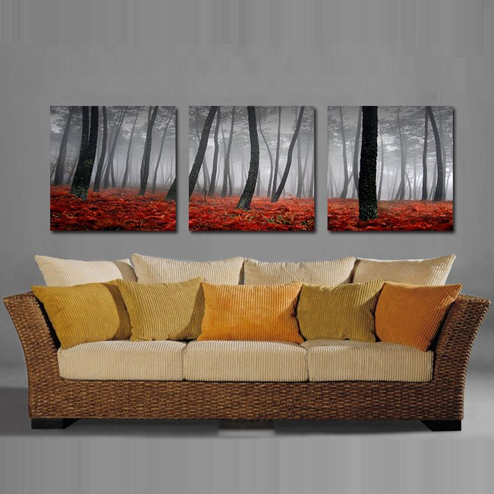 Fallen Leaves and Tree Film Art Wall Prints