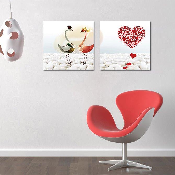 Elegant Swan and Cobblestone Film Art Wall Prints