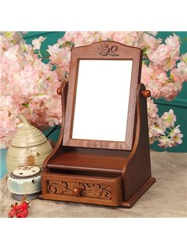 Top Quality Antique Forget-Me-Not Carved Dressing mirror