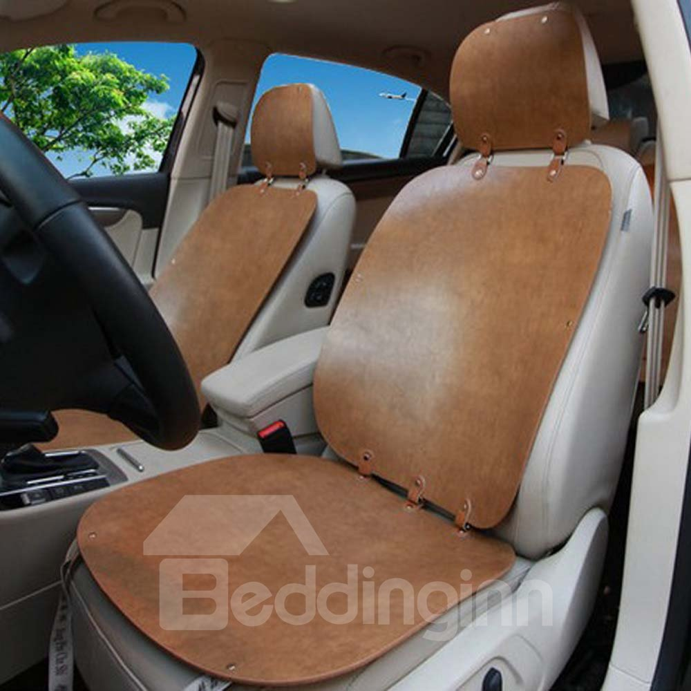 Shabby Chic Pure Color Polish Leather Car Seat Cover Beddinginn Com