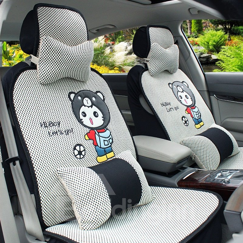 New Style Pure Color with Little Bear Car Seat Cover