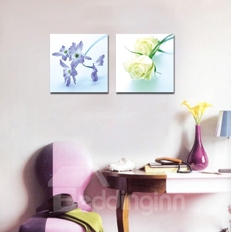 Adorable Purple Flowers and Roses Film Art Wall Prints