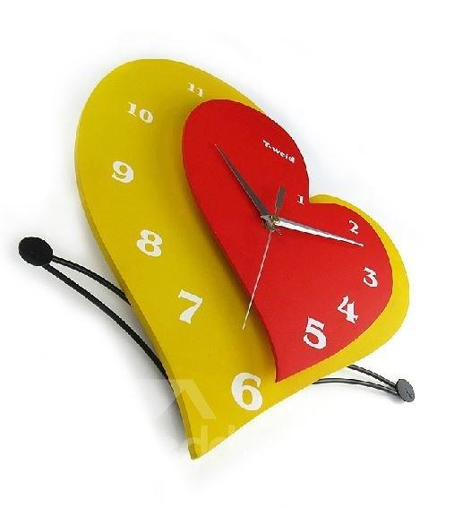 Elegant Stylish Creative Heart-shaped Wall Clock