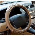 Fashionable Polished Synthetic Leather with Folds Steering Wheel Cover