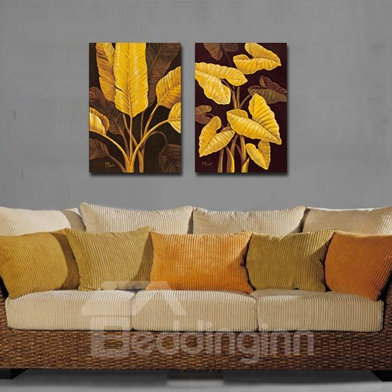 Delicate Yellow Leaves Film Art Wall Print