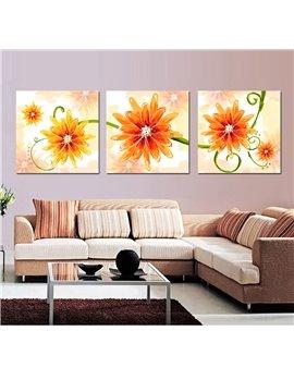 Fancy Orange Flowers Film Art Wall Print