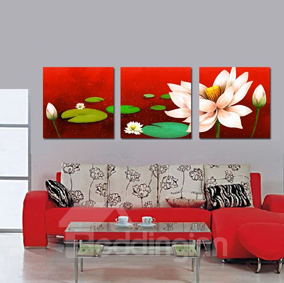 Adorable Charming Lotus in Water Film Art Wall Print