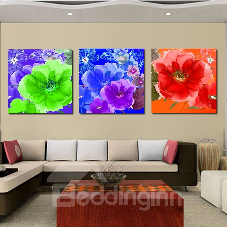 Adorable Blooming Flowers Film Art Wall Print