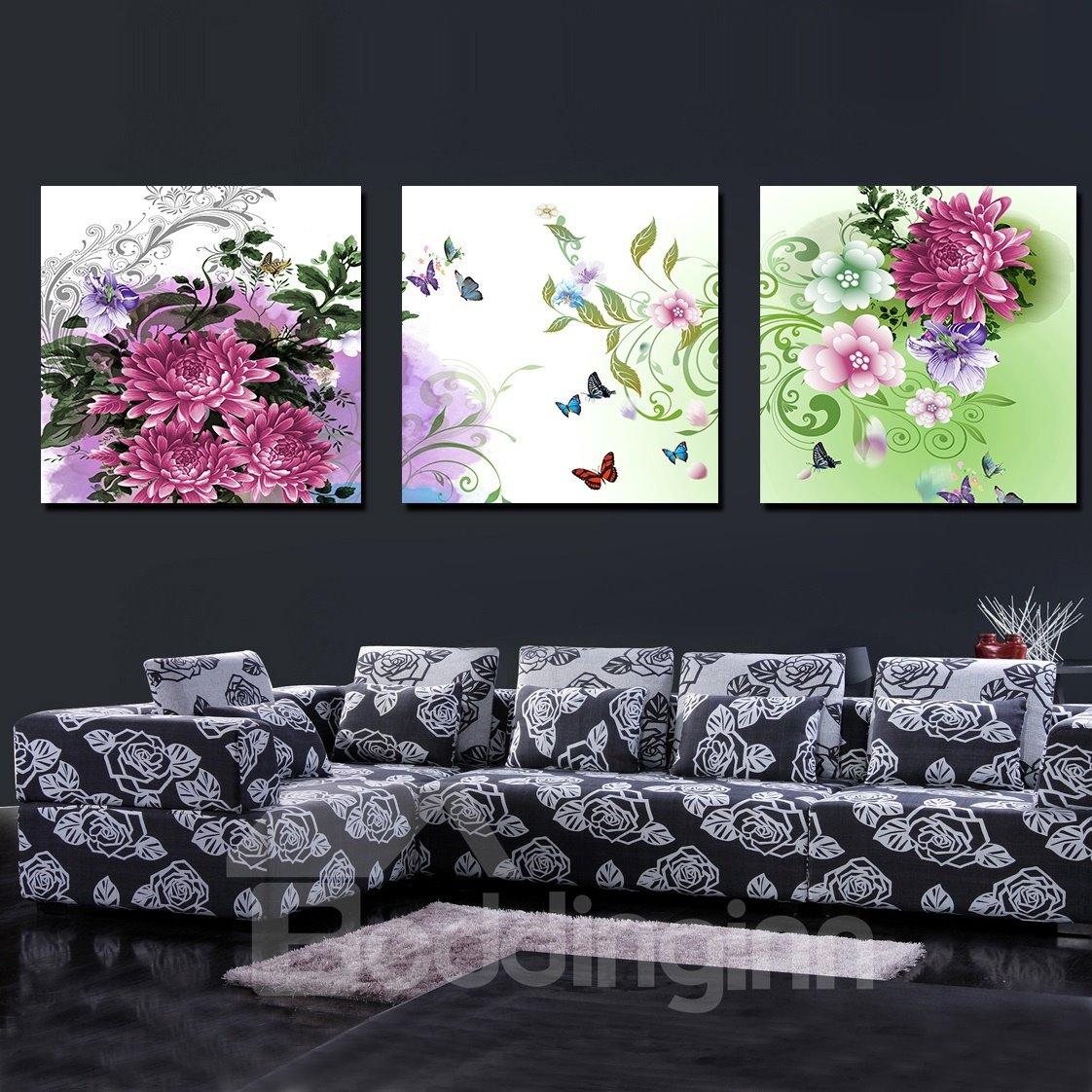 Enchanting Delicate Flowers Film Art Wall Print
