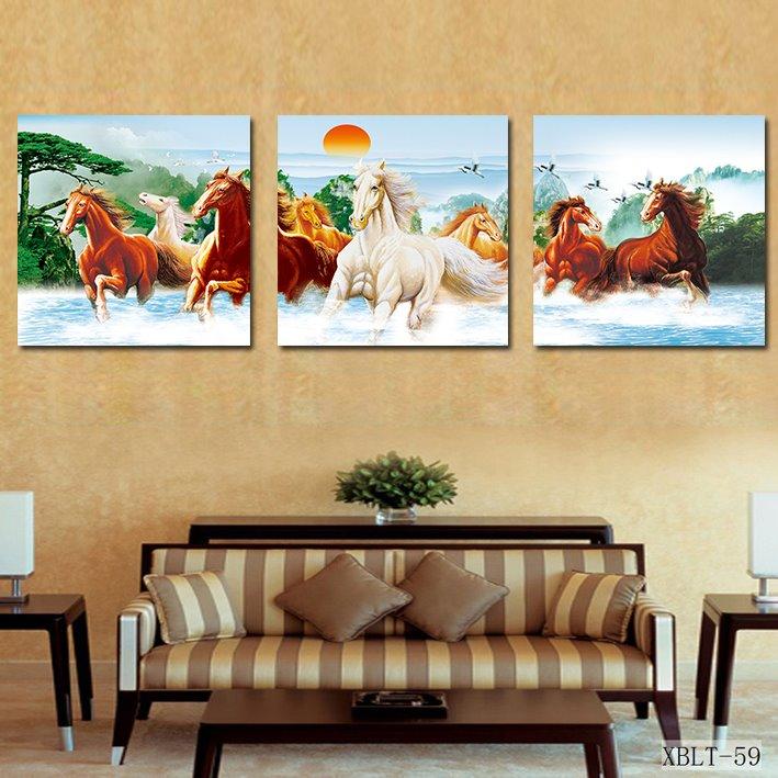 Prancing Horses and Fancy Sunrise Film Art Wall Print