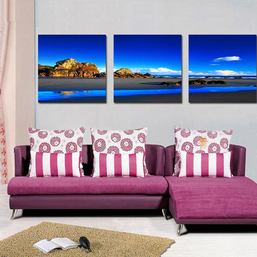 Fancy Landscape and Lake Film Art Wall Print