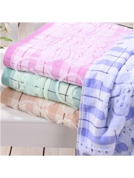 Distinctive Cabbage Print Full Cotton Bath Towel