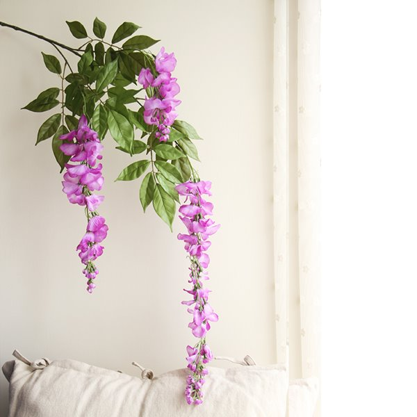 High Quality Wonderful Romantic Simulation Silk Cloth 5-Branch Wisteria