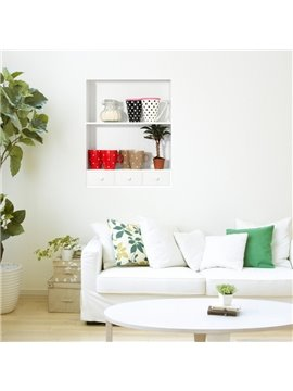 Stunning 3D Cups and Plant Patterns Wall Stickers
