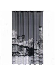 Charming Night Scenery Printing 3D Shower Curtain