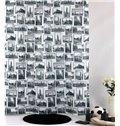 High Quality Modern Fashion British Style Shower Curtain