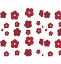 New Arrival Lovely Red Flowers Printing Shower Curtain