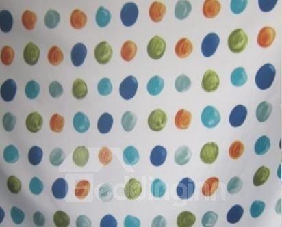 New Arrival Unique Colorful Dots Design Shower Curtain