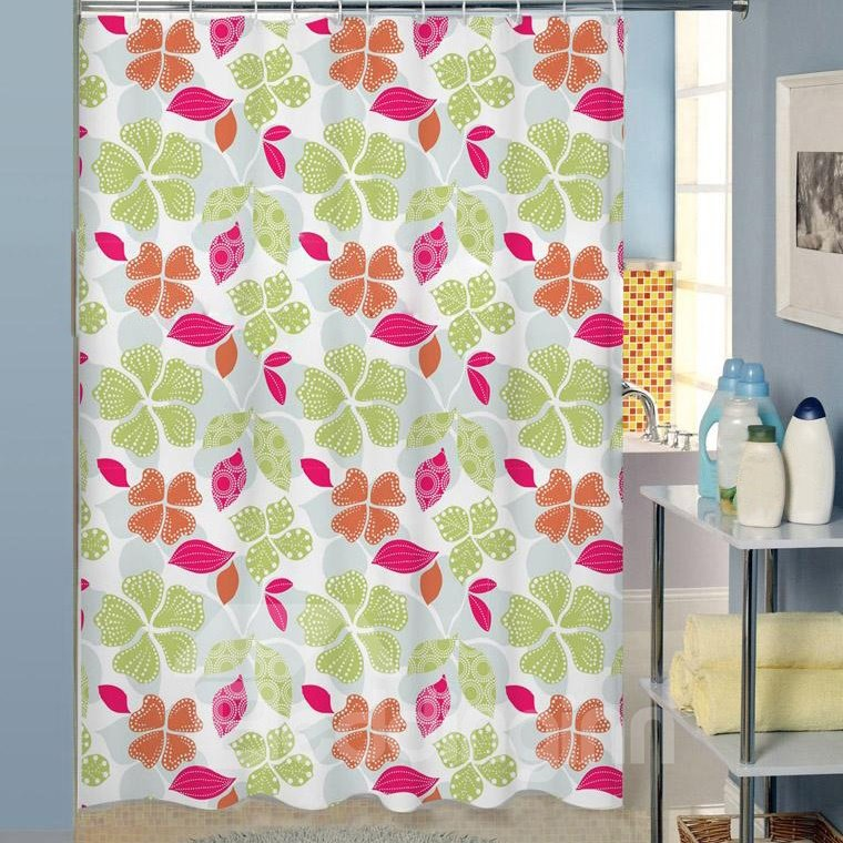New Arrival Fabulous Colorful Leaves Design Shower Curtain