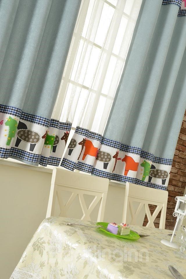 Amazing Eelegant Patterns Grommet Top Two-piece Custom Curtains