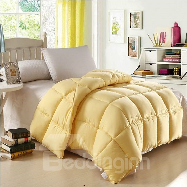 Quality Amazing Micro Fiber Yellow Comfortable Skincare Quilt
