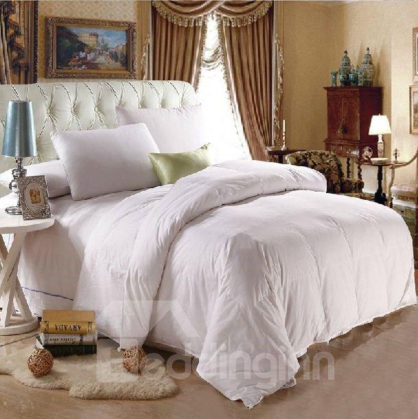 Fancy Adorable Duck Down White Super Soft Quilt