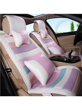 Hot Selling Cute Cartoon Colorful Stripes Car Seat Cover
