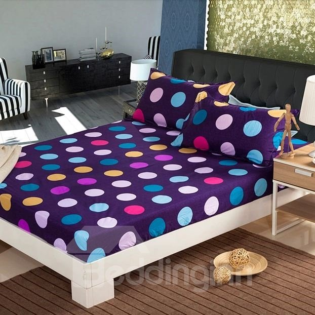 Amazing Multi-colored Polka Dot Design Fitted Sheet